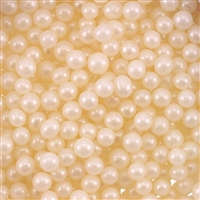 5mm Edible Pearlized Dragees - Ivory Gloss