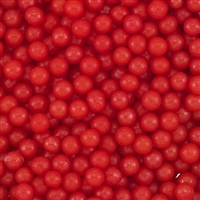 5mm Edible Pearlized Dragees - Red Gloss