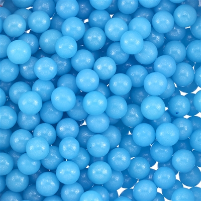 6mm Edible Pearlized Dragees - Blue Gloss