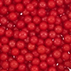 6mm Edible Pearlized Dragees - Red Gloss