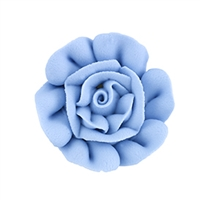 Large Royal Icing Rose - Baby Blue