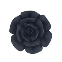 Large Royal Icing Rose - Black