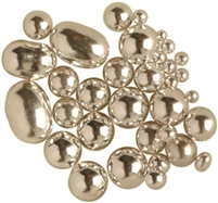 Non-Edible Metallic Silver Coated Dragees - Assortment