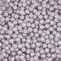 Non-Edible Metallic Silver Coated Dragees - 4mm