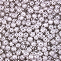 Non-Edible Metallic Silver Coated Dragees - 5mm - 11lb. Pack