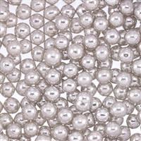 Non-Edible Metallic Silver Coated Dragees - 6mm - 11lb. Pack