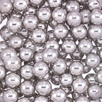 Non-Edible Metallic Silver Coated Dragees - 8mm - 11lb. Bulk Pack