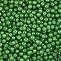 Non-Edible Metallic Green Dragees - 4mm