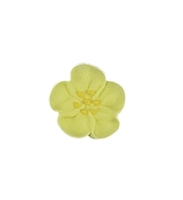 Small Royal Icing Wild Rose - Yellow