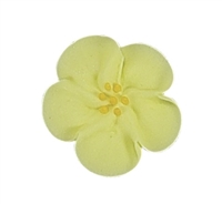 Med-Lg Royal Icing Wild Rose - Yellow