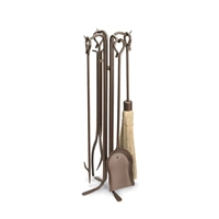 Pilgrim Forced Hearth Tool Set - Burnished Bronze