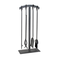 Pilgrim Shadow Iron Fireplace Tool Set (18089)
