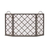 Pilgrim Iron Weave Tri Panel Fireplace Screen (18199)
