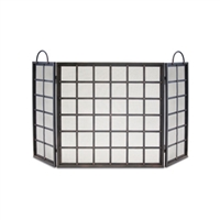 Pilgrim Manor 3 Panel Folding Fireplace Screen (18228)