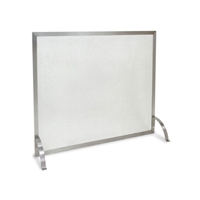 Pilgrim Newport Stainless Steel Single Panel Fireplace Screen (18257)