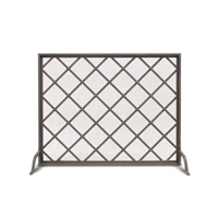 Pilgrim Iron Weave Single Panel Fireplace Screen (18303)