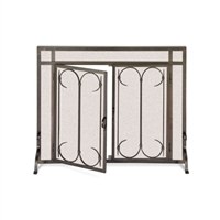 Pilgrim Iron Gate / Straight Top Door Fireplace Screen (18426)