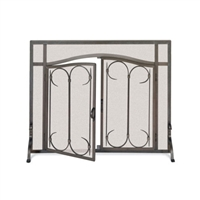 Pilgrim Iron Gate / Arch Top Door Fireplace Screen (18428)