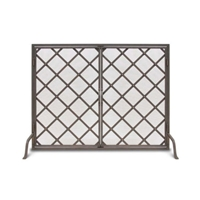 Pilgrim Iron Weave Door Fireplace Screen (18450)
