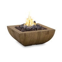 American Fyre Designs Bordeaux Square Reclaimed Wood Fire Bowl