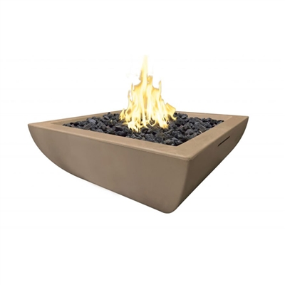 American Fyre Designs Bordeaux Petite Square Fire Bowl