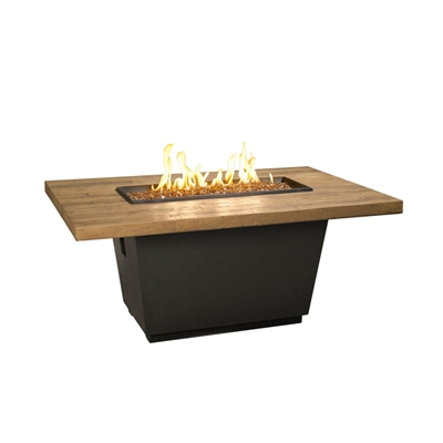 American Fyre Design Reclaimed Wood Cosmo Rectangle Firetable