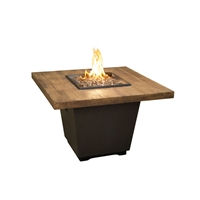 American Fyre Design Reclaimed Wood Cosmo Square Firetable