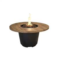 American Fyre Design Reclaimed Wood Cosmo Round Firetable