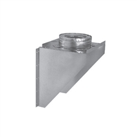 "Metal-Fab 6"" Wall Support/Adapter - Adjustable"