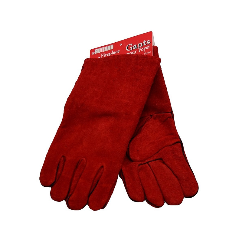 Rutland Leather Fireplace Gloves Blazzing Fire