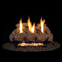 Real Fyre 30-Inch Live Oak Gas Log Set with Vent-Free Natural Gas VF9 Manual Burner