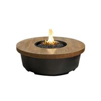 American Fyre Design Reclaimed Wood Contempo Round Firetable