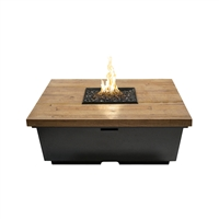 American Fyre Designs Reclaimed Wood Contempo Square Firetable