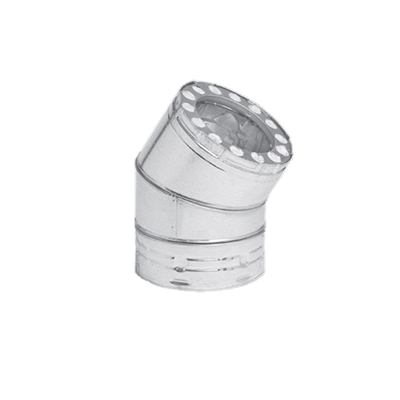 "Metal-Fab 8"" Stainless Steel 30 Degree Elbow"