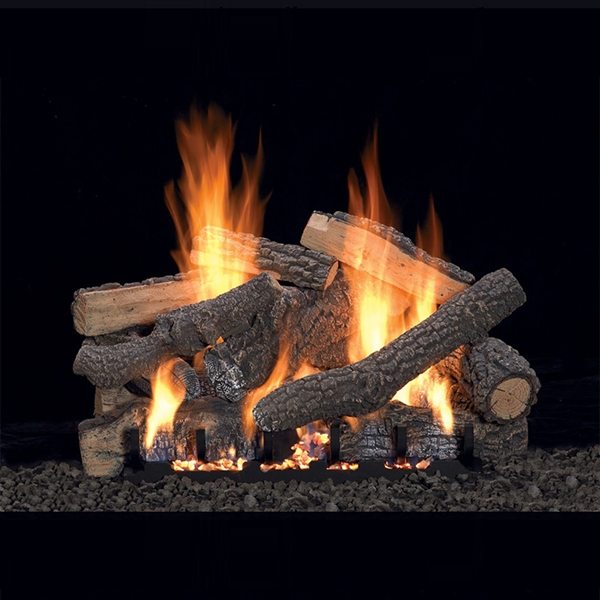 Empire 18-IN Williamsburg Log Set with Vent free Slope Glaze Burner