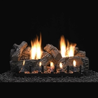 Empire 24-IN Charleston Log Set with Vent Free Slope Glaze Burner