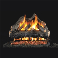 Real Fyre American Oak 18-in Gas Logs with Burner Kit Options