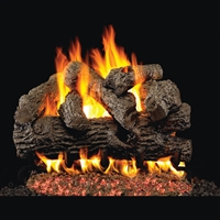 Real Fyre Royal English Oak 24-in Gas Logs with Burner Kit Options