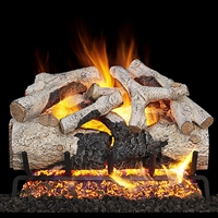 Real Fyre Burnt Aspen 24-in Gas Logs with G52 Burner Kit Options