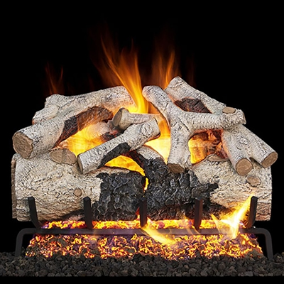 Real Fyre Burnt Aspen 30-in Gas Logs Only