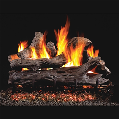 Real Fyre Coastal Driftwood 24-in Gas Logs with Burner Kit Options