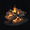 Real Fyre Charred American Oak See-Thru 18/20-in Gas Logs with Burner Kit Options