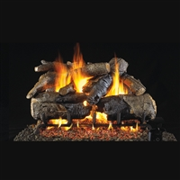 Real Fyre Charred American Oak 24-in Logs with Burner Kit Options