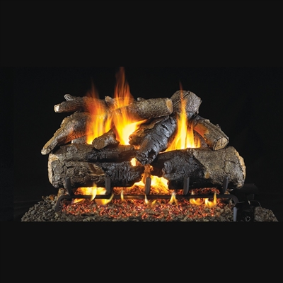 Real Fyre Charred American Oak 30-in Gas Log Sets