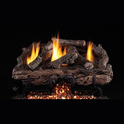 "Real Fyre Charred Aged Split Vent Free 16/18"" Logs with G10 Burner Options"