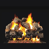 Real Fyre Charred Royal English Oak Log 36-in with Burner Options