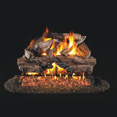 Real Fyre Charred Cedar 30-in Logs with Burner Kit Options