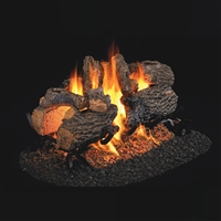 "Real Fyre Charred Oak See-Thru 16"" Gas Logs with G45 Burner Options"
