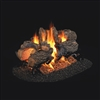 "Real Fyre Charred Oak See-Thru 18"" Gas Logs with G45 Burner Options"
