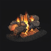 Real Fyre Charred Oak See-Thru 24-in Logs with Burner Kit Options